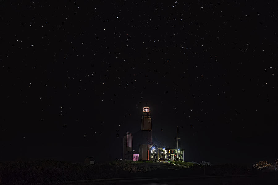 Montauk Point at Night