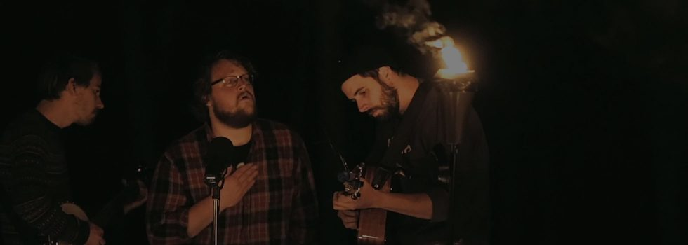 Fogged Clarity SessionsThe Les Cheneaux Sessions 2015, No. 6Bonfires and torches burn as the The Hand in the Ocean performs on Marquette Island. more