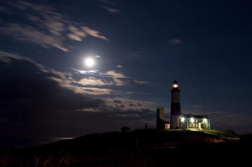 Montauk Lighthouse at Night